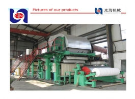 China made 2100mm hand tissue paper machine, parent roll wheat straw pulp making line with afterservice